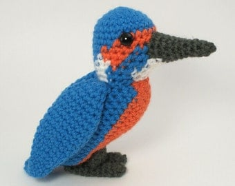 PDF Kingfisher amigurumi bird CROCHET PATTERN