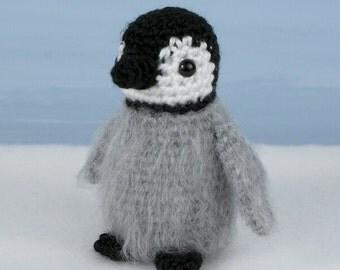 PDF Baby Emperor Penguin amigurumi CROCHET PATTERN