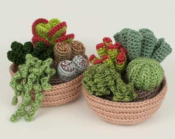 PDF Succulent Collections, eight realistic CROCHET PATTERNS