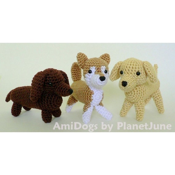 PDF Special Deal AmiDogs Set 1 3 amigurumi dog CROCHET