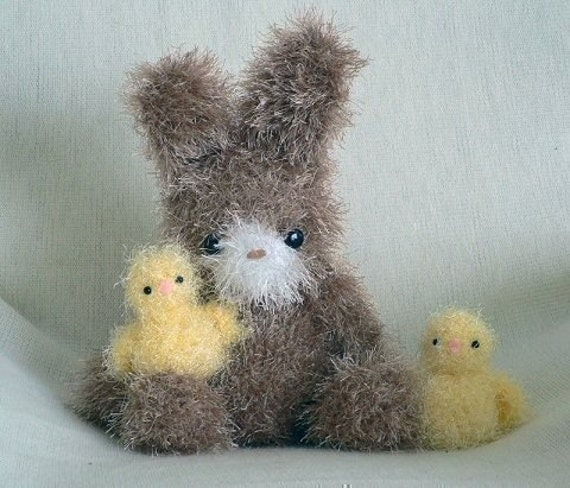 Fuzzy Bunny and Chick amigurumi PDF CROCHET PATTERN