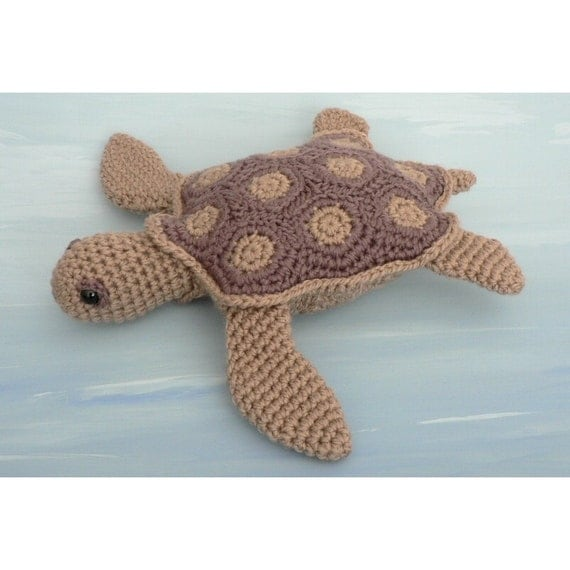 PDF AquaAmi Sea Turtle amigurumi CROCHET PATTERN by PlanetJune