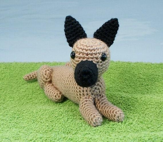 Amigurumi Pointed Ears : PDF AmiDogs Great Dane amigurumi dog CROCHET PATTERN