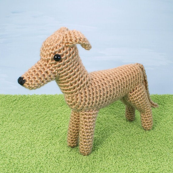 PDF AmiDogs Greyhound (or Whippet) amigurumi CROCHET PATTERN