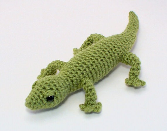 Amigurumi Halloween Free Patterns : Gecko lizard amigurumi PDF CROCHET PATTERN by PlanetJune ...