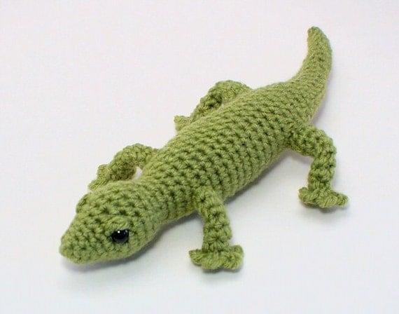 T Rex Amigurumi Pattern Free : PDF Gecko lizard amigurumi CROCHET PATTERN