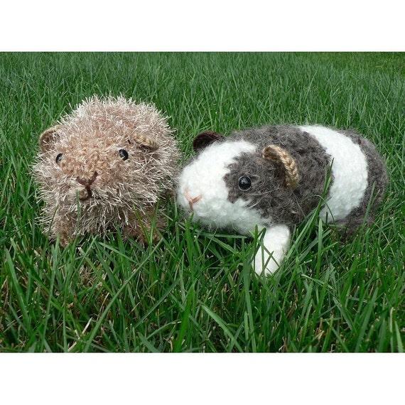 Fuzzy Guinea Pig amigurumi crochet pattern