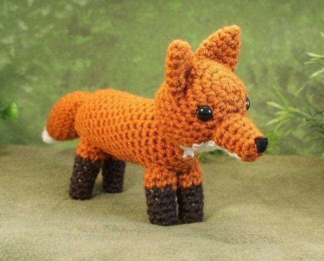Amigurumi Fox : Pdf red fox amigurumi crochet pattern