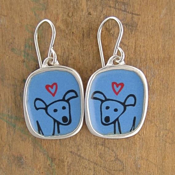 Happy Dog Earrings