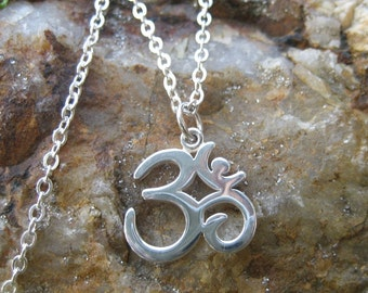 Om Necklace - Yoga Jewelry - Sterling Silver