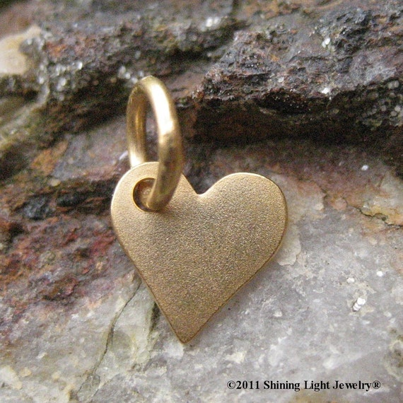 Small Gold Heart Charm - Vermeil - 24K Gold