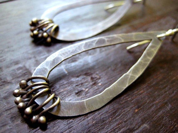 Embellished Tear Drop Earrings