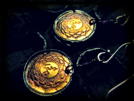 Crown Chakra Earrings with 24k gold