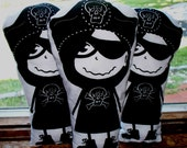 Screen Printed Pirate Cutie Pillow Dolly