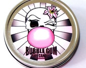 Bubble Gum  Scented  Soy candle in travel tin