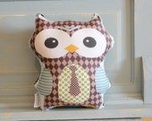 stuffed OWL PETUNIAS' Owl Pillow doll toy toddler baby kid child plush softie gift photo prop room decor unique cute present