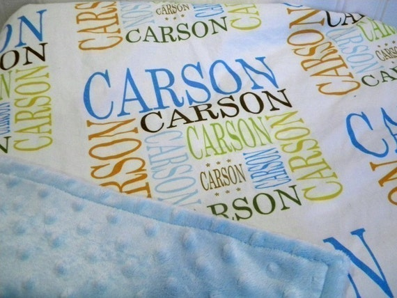 PETUNIAS' NAME GAME minky blanket - custom name - PERSONALIZED JUST FOR YOU