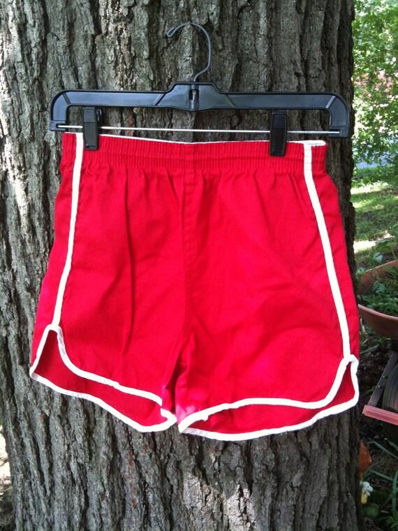 Vintage Red Track Shorts
