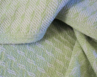 Handwoven Cotton Baby Blanket - Lime