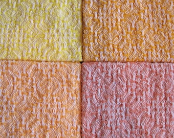 Peaches & Sunshine - 4 Handwoven Hand Towels
