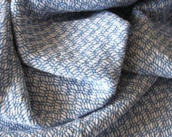 Blue Baby Blanket - Handwoven