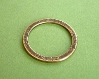vintaj eternity garden ring, brass jewelry component, 25mm one piece