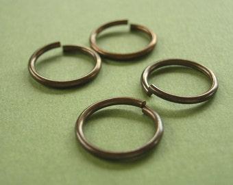 vintaj brass jump rings, 15mm jump rings, four jump rings, brass jump rings