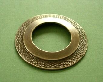 vintaj brass donut, 40mm brass donut, one piece