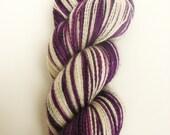 GRAPE - Hand Painted Superwash Sock Yarn