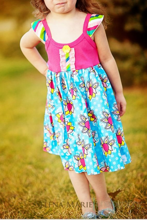 Deal of the Day New Girls Boutique Flutter twirl tank dress Easter Spring 12