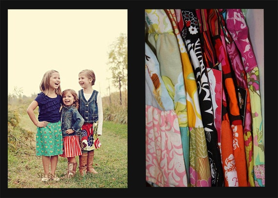 10.00 Skirt Sale Girls toddlers tweens Ready to Ship by K Bella Bambino 2t-8y