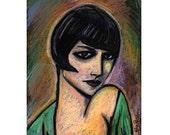 LOUISE BROOKS Painting