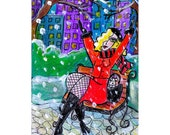 SNOWY CENTRAL PARK ----- ACEO Print