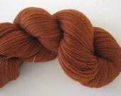 Rusty Sienna - hand dyed lace weight superwash merino yarn, 1250 yds