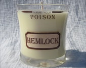 Hemlock Upcycled Glass 15oz Soy Candle Very Vanilla Poison