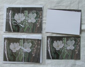 watercolour card set- cosmos