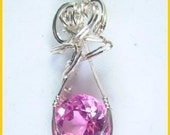 FSP34 Pink Sapphire in Sterling Silver SOLD
