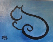 Original Cat Painting - Naptime - 9 by 12 for Courageous Cats