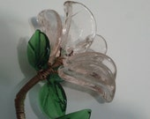Glass Flower- Murano glass/  Light pink