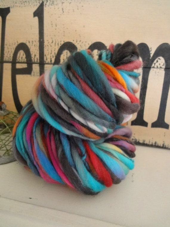 limited edition handspun thick and thin yarn
