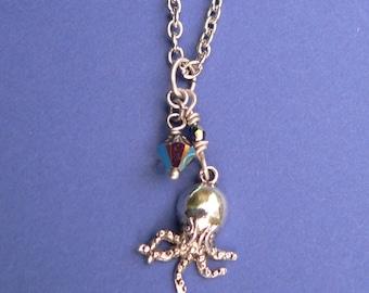 Cthulhu Necklace Swarovski Crystal Pendant Necklace