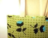 SALE Large Market Tote Knitting Book Bag - Joel Dewberry Tossed Flower Celery