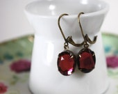 PINK Faceted Vintage Glam Earrings FREE SHIPPING