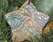 Christmas Ornament Faux Raku Star