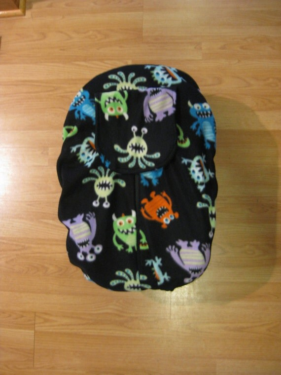 silly monsters fleece infant car seat cover. Black Bedroom Furniture Sets. Home Design Ideas