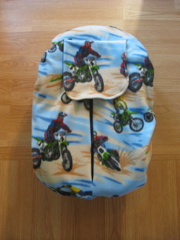 Dirt Bike Fleece Infant Car Seat Cover