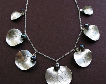 Eucalyptus leaf frontal necklace