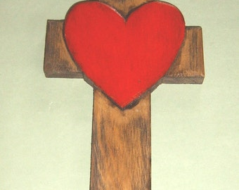 CHRISTIAN CROSS WITH HEART