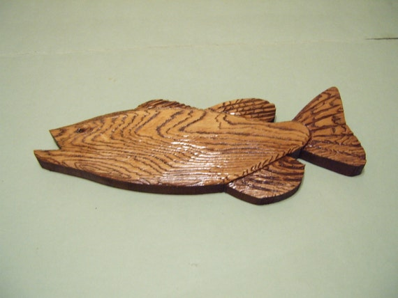 Fish Wood Carved Plaque