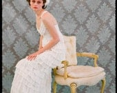 Canary Wedding Dress Gown in Bone White Silk Chiffon Made to Order - The Most Elegant Wedding Dress